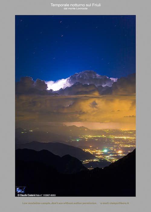 Temporale notturno - Friuli