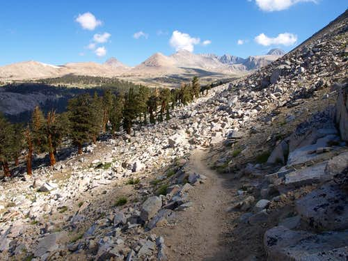 The JMT below Tawny Point