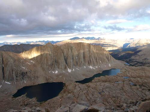 Mt Hitchcock and Hitchcock Lakes from high on Whitney