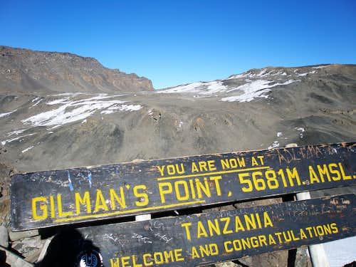 Uhuru Peak from Gilman's Point