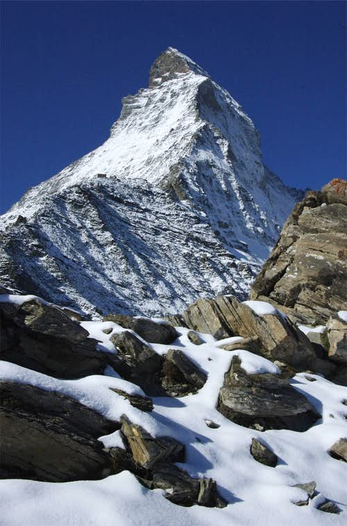Fresh snow on the Matterhorn