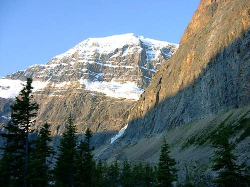 West ridge view of Mt-Edith...