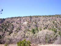 Frijoles Canyon Wall