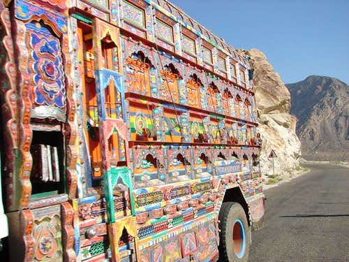 Painted Pakistani Truck
