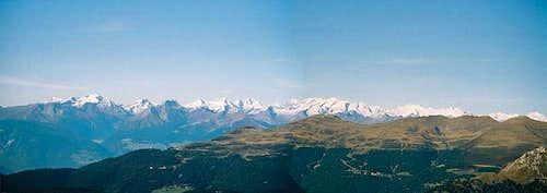 Panorama of the main ridge of...