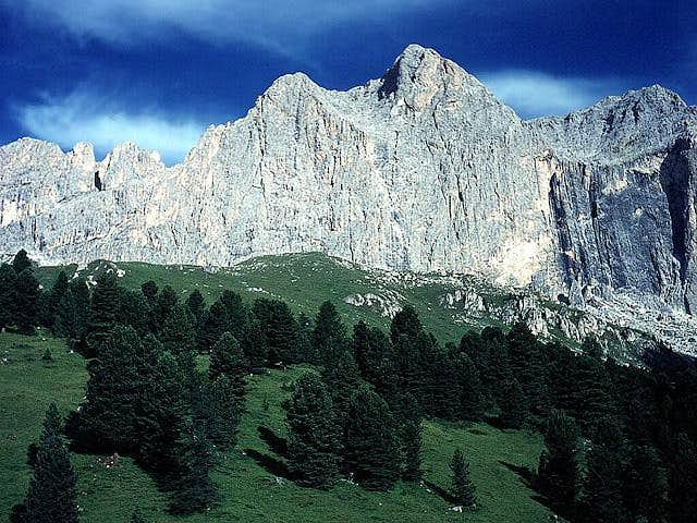 Catinaccio - east wall - from...