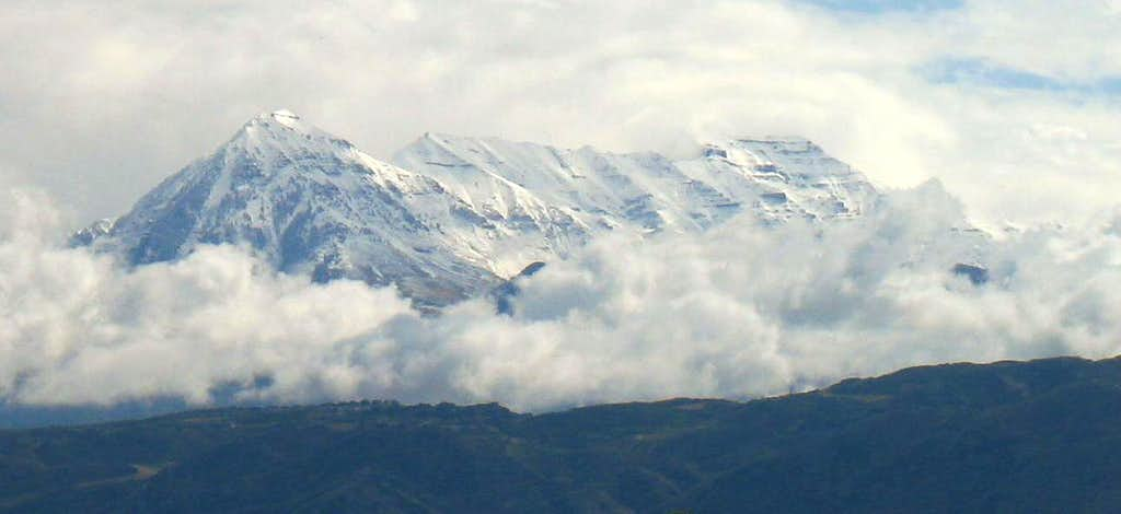 Cloudy Timpanogos from Salt Lake Valley