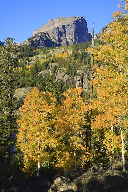 Hallett amidst fall colors