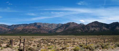 The range of south Wah Wah's