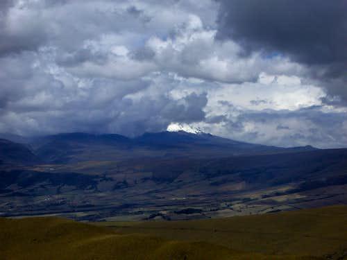 A cloudy Cotopaxi
