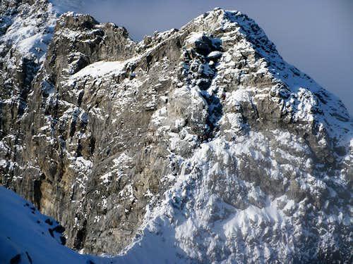 Tschierfeckwandl under snow cover