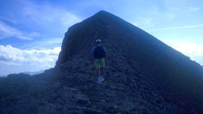 Walking up the western ridge...