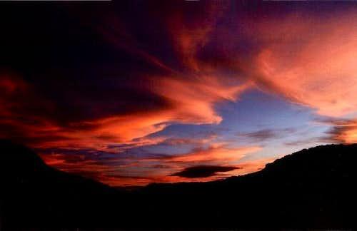 Summer sunset in La Pedriza