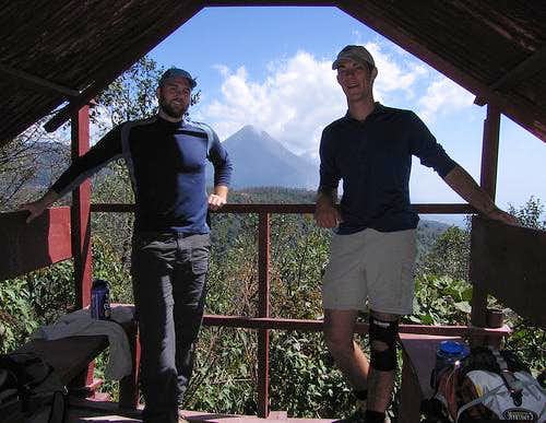 Lucas and Bryan at Chicabal Mirador