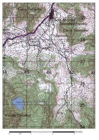 Chicabal Volcano Topographical Map