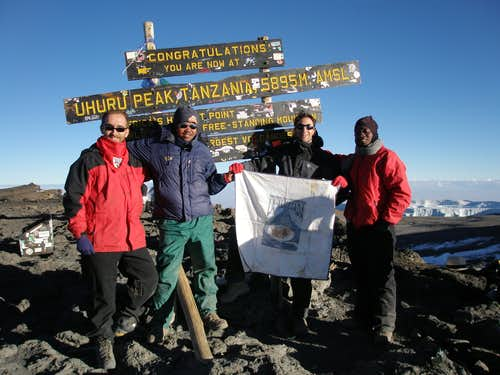 Summit of the Uhuru Peak