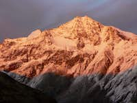 Vertainspitze (3545 m) at sunset