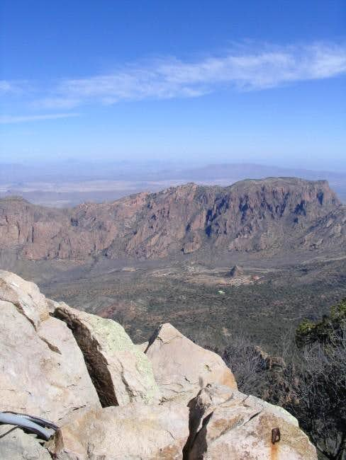 View of the Chisos mountains...