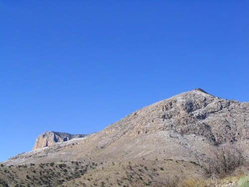 El Capitan and Guadalupe Peak...