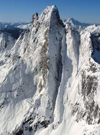 Mt Slesse, N Face, winter
