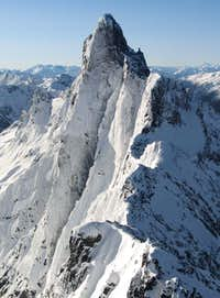 Mt. Slesse, NNW, winter