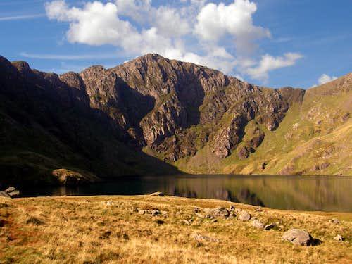 Craig y Cau across Llyn y Cau - Cadair Idris