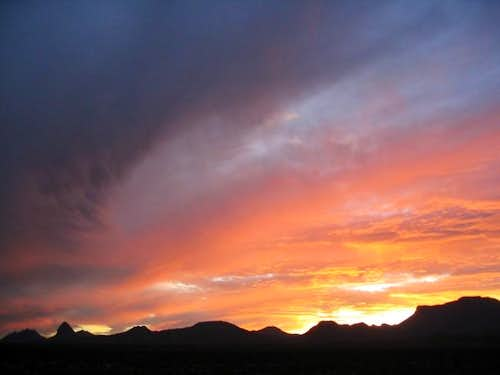 View of Big Bend\'s mountains...