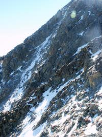 Climbers in the North Face Gully