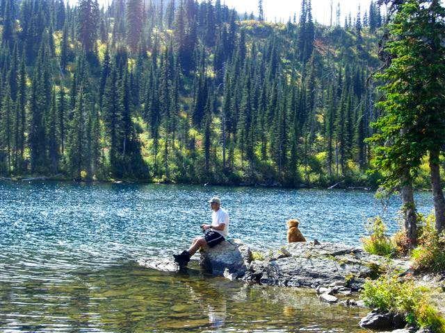 Fishing at Birch Lake