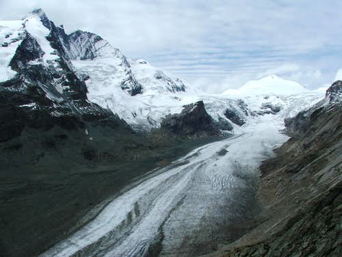 Grossglockner, Johannisberg and Pasterzen glacier
