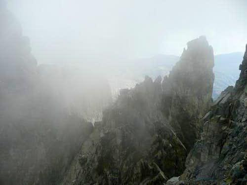 Dyer Minaret in clouds