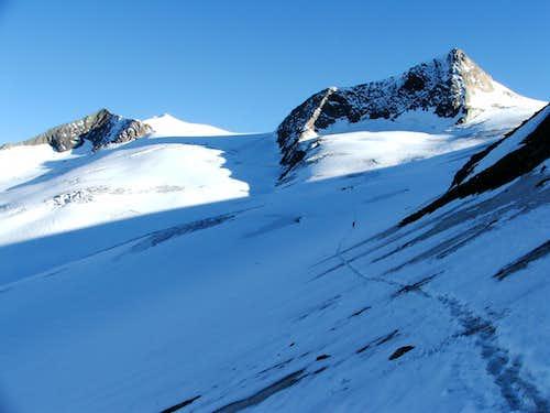 Hohes Áderl (3504m) and Rainerhorn (3560m)