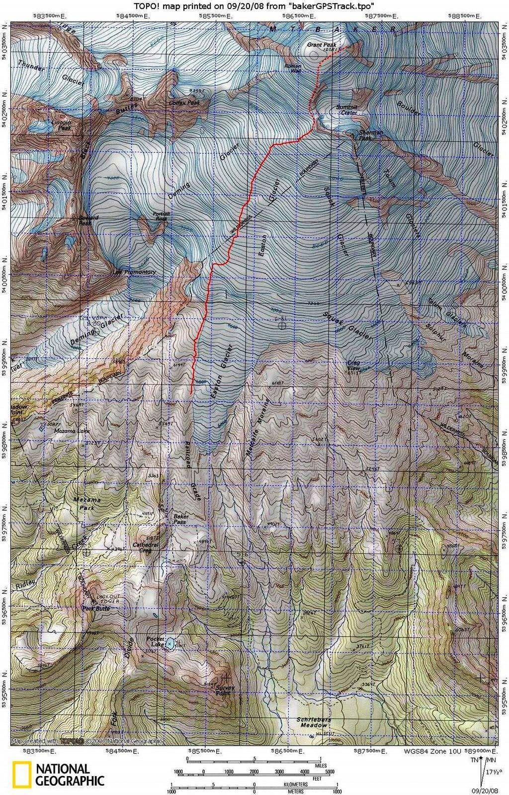 Easton GPS track