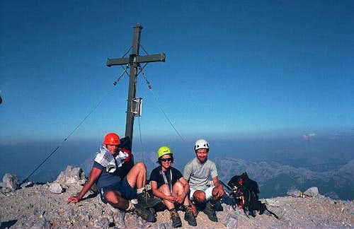 Summit of Watzmann after...