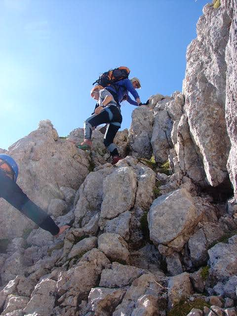 Climbing the traverse