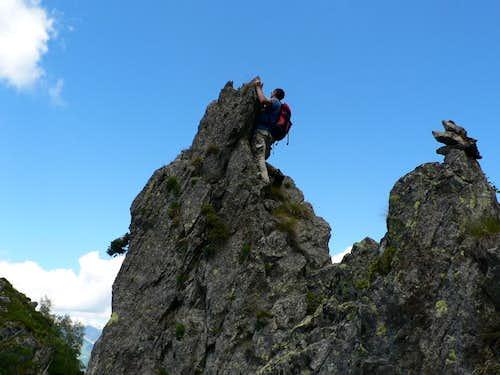Climbing the Finger of God..