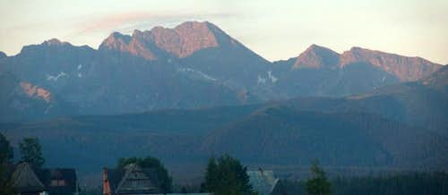 Sunrise on the Tatras