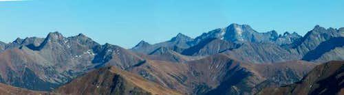 High Tatras from Ornak
