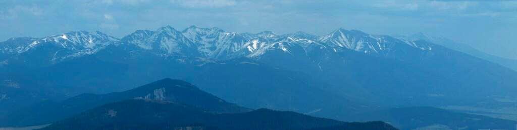 Western Tatras from Veľký Choc