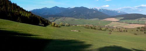 Western Tatras from Kvačany