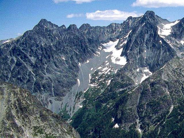 Copper Peak is on the left...