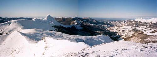 The Cantal tops in January