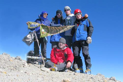 Pico de Orizaba summit team