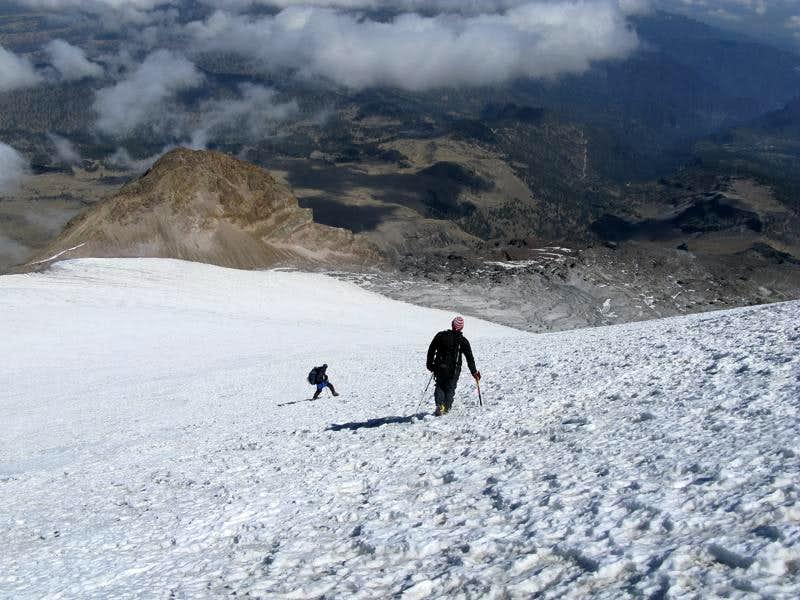 Climbers descending Orizaba