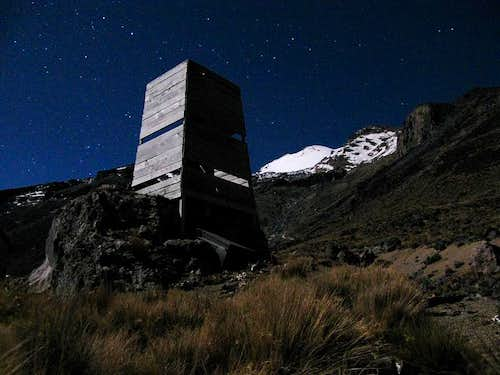 Loo with a view, Pico de Orizaba, Mexico