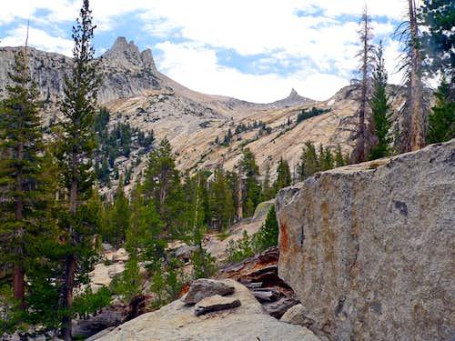 Unicorn Peak and Cockscomb from the Budd Lake trail