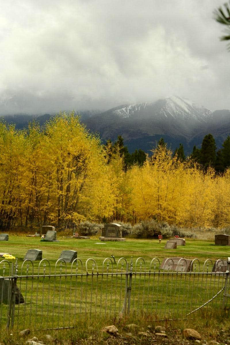 Mt Elbert Seen from the Leadville Cemetery