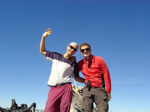 Summit shot on the Chüebodenhorn 3070m