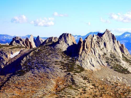 Echo Peaks from Cathedral Peak