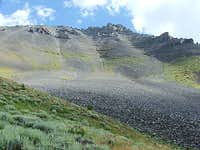 Italian Peak talus slopes